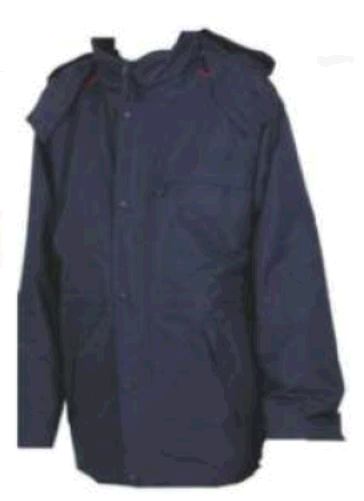 Wetterschutzjacke 2in1 mit blauer Biese