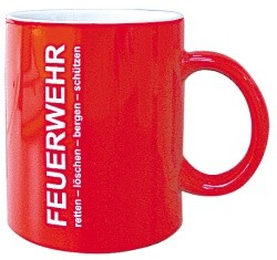 Feuerwehr-Kaffeebecher